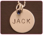 Custom name jewelry is a great way to commemorate important dates!