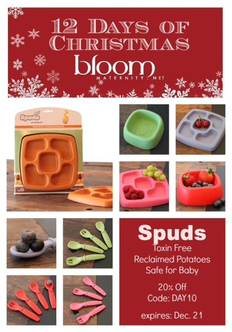 Day 10 - 12 Days of Christmas   Spuds 20% Off   @BloomMaternity