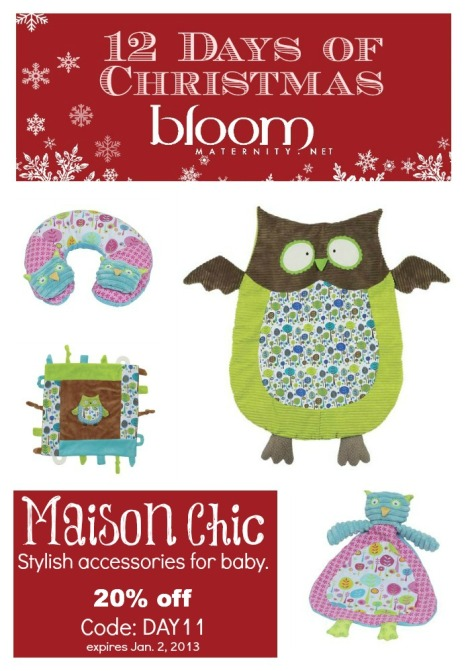 12 Days of Christmas: Maison Chic 20% off | @BloomMaternity