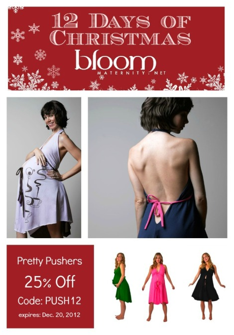 12 Days of Christmas: Pretty Pushers | @BloomMaternity | http://BloomMaternity.net