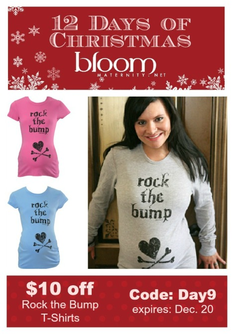 Day 9 | Rock the Bump T-Shirts | $10 Off | @BloomMaternity