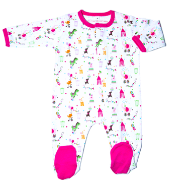 Magnificent Baby Girls Circus Footie | Sale $23.95 | @BloomMaternity